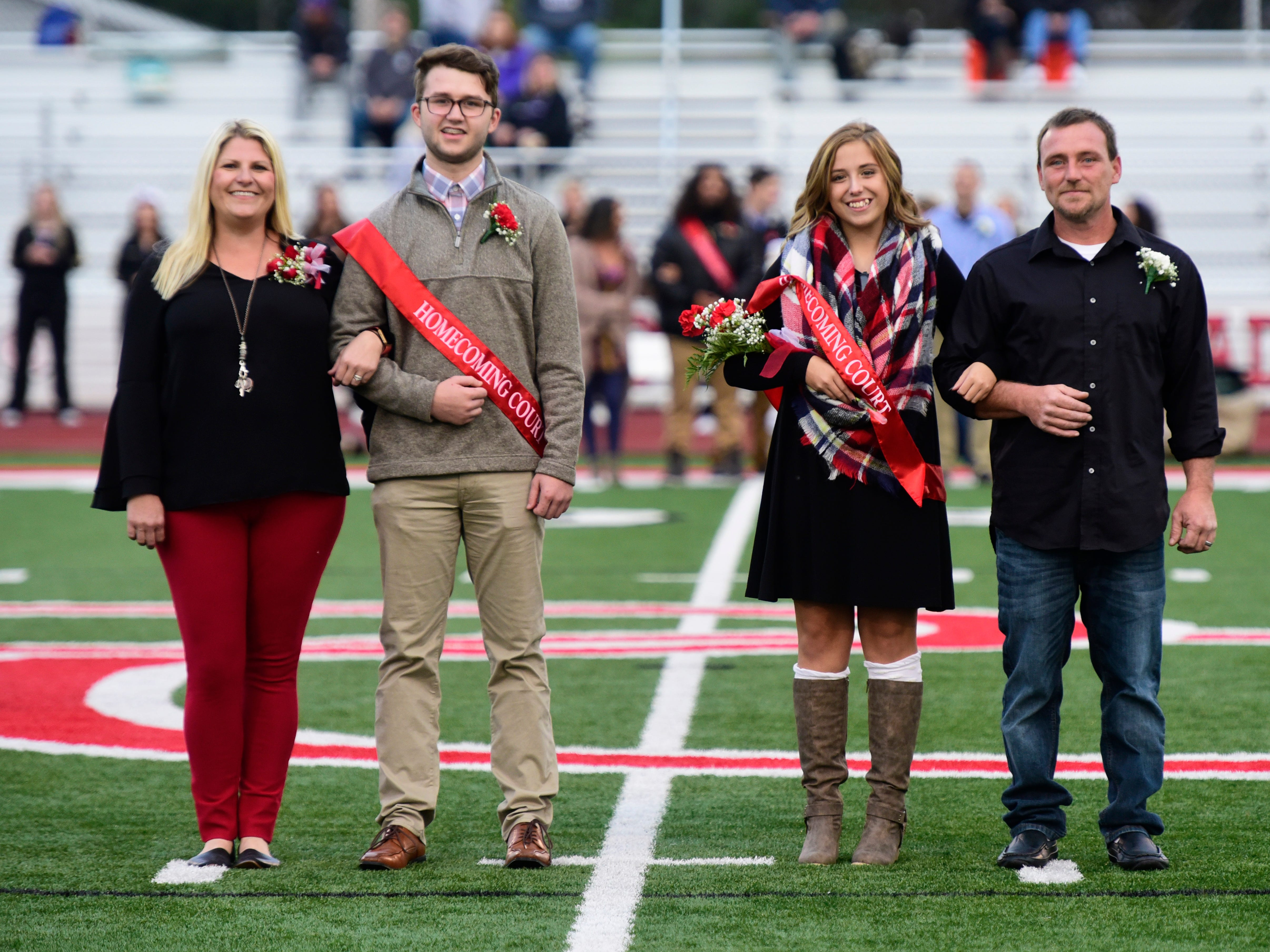 Port Clinton High School 2018 senior homecoming attendant Dylan Johnson, left, and queen Stacey Bragg.