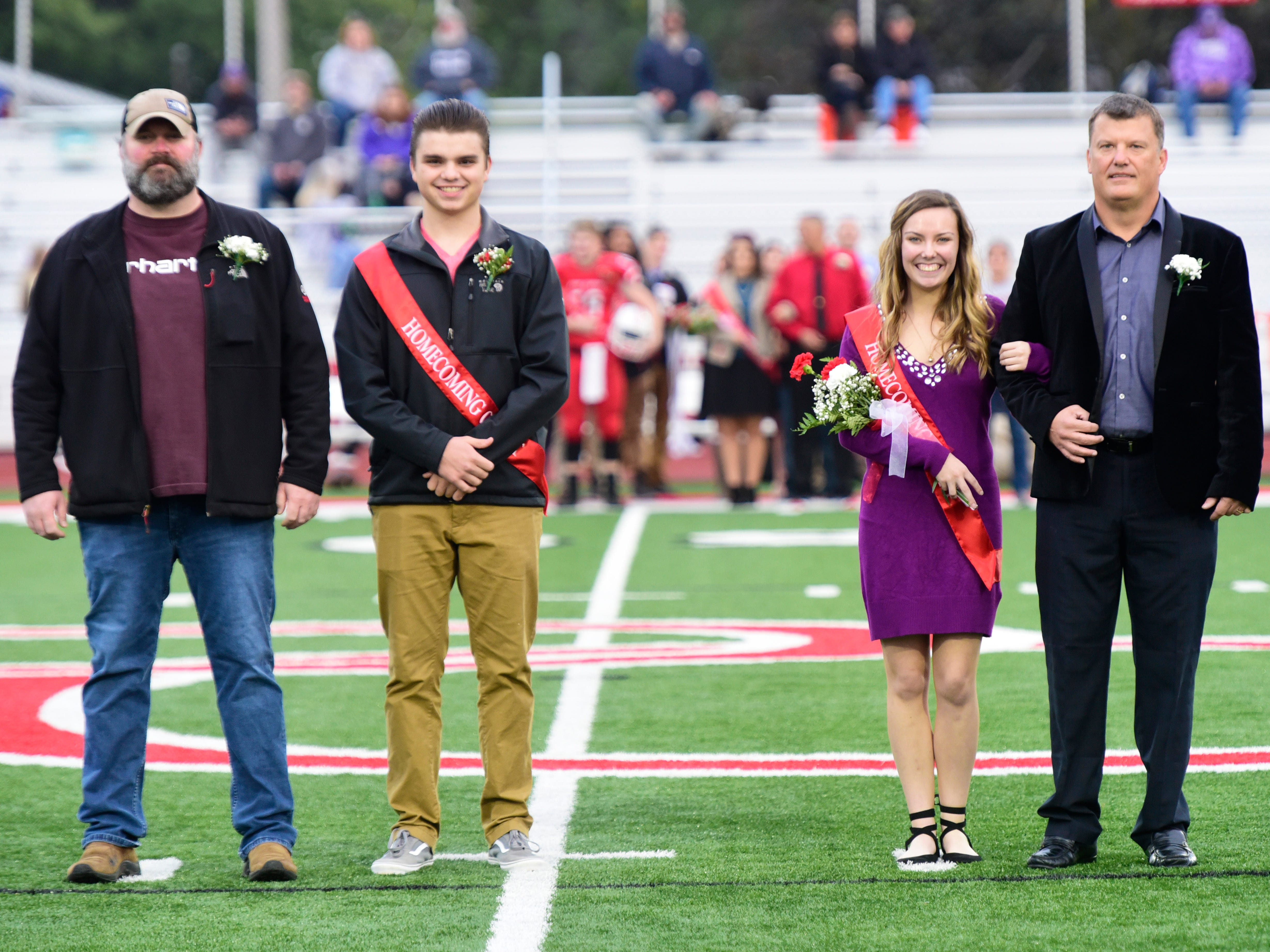 Port Clinton High School 2018 senior homecoming attendants Riley Damschen, left, and Alexis Yoh.