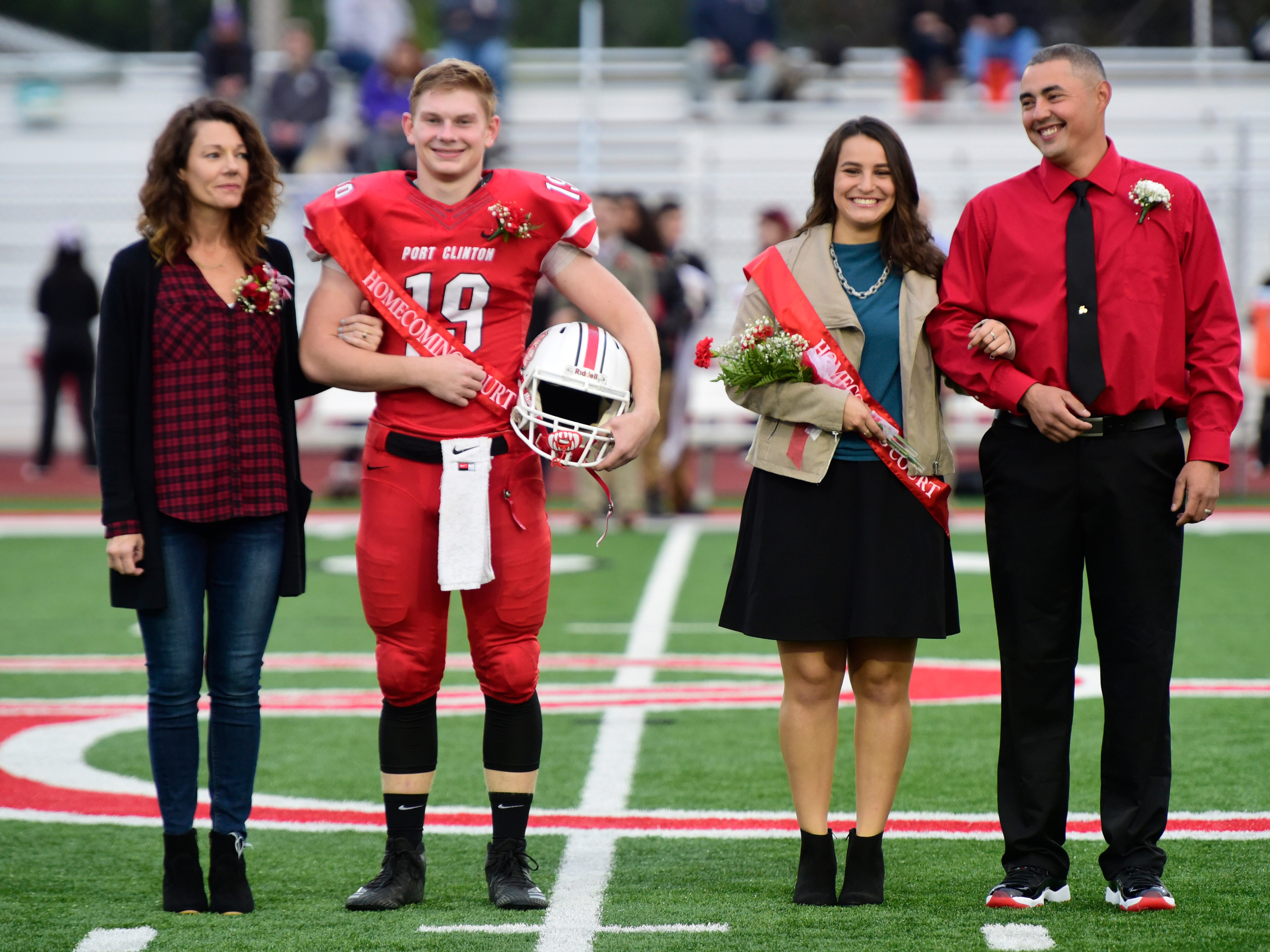 Port Clinton High School 2018 senior homecoming king Max Brenner, left, and attendant Marisol Fick.