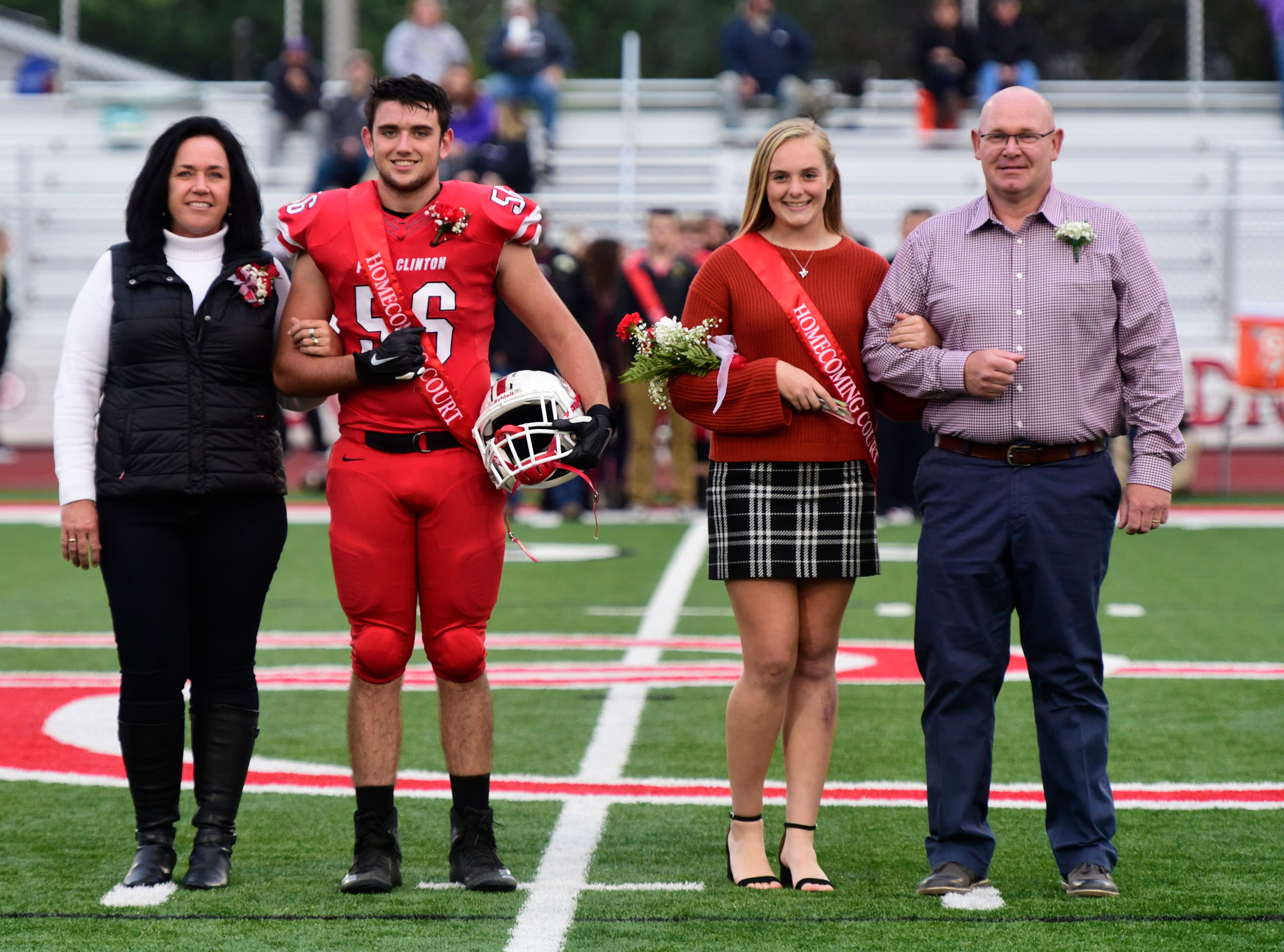 Port Clinton High School 2018 junior homecoming attendants Caden Chapman, left, and Marie Gluth.