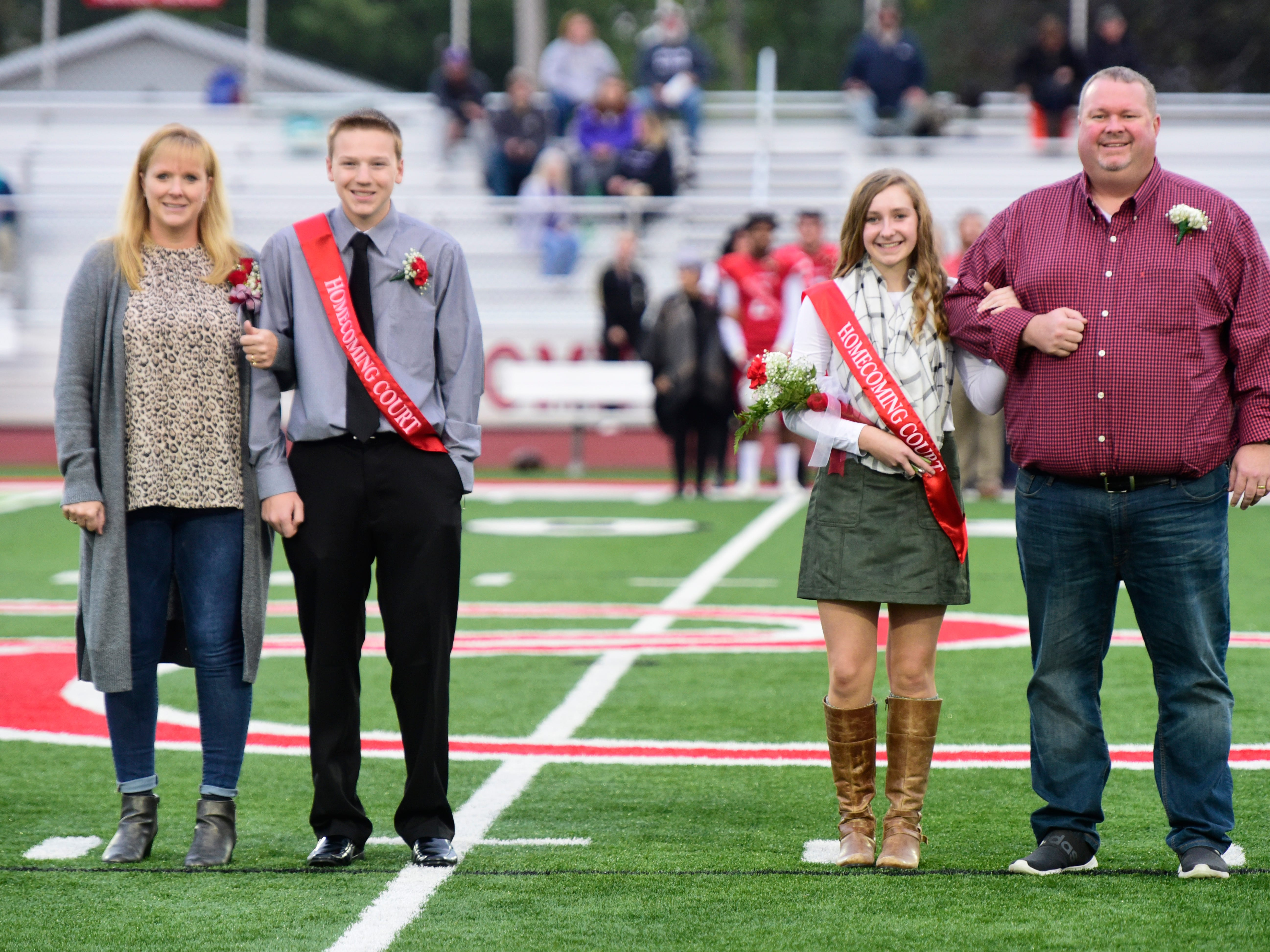 Port Clinton High School 2018 freshman homecoming attendants Luke Halsey, left, and Marcella Brenner.