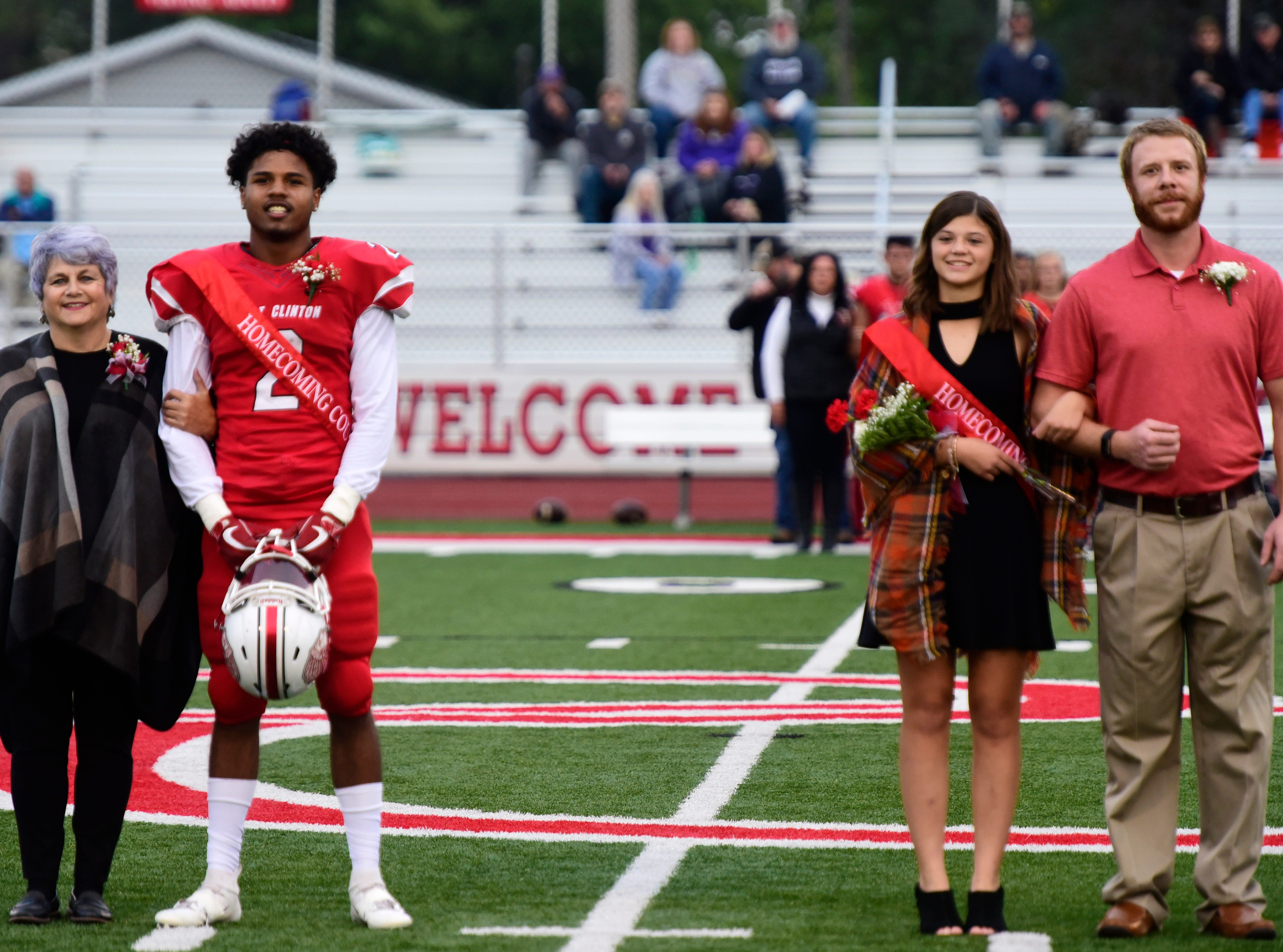 Port Clinton High School 2018 sophomore homecoming attendants Jonah Sidney, left, and Averie Webb.
