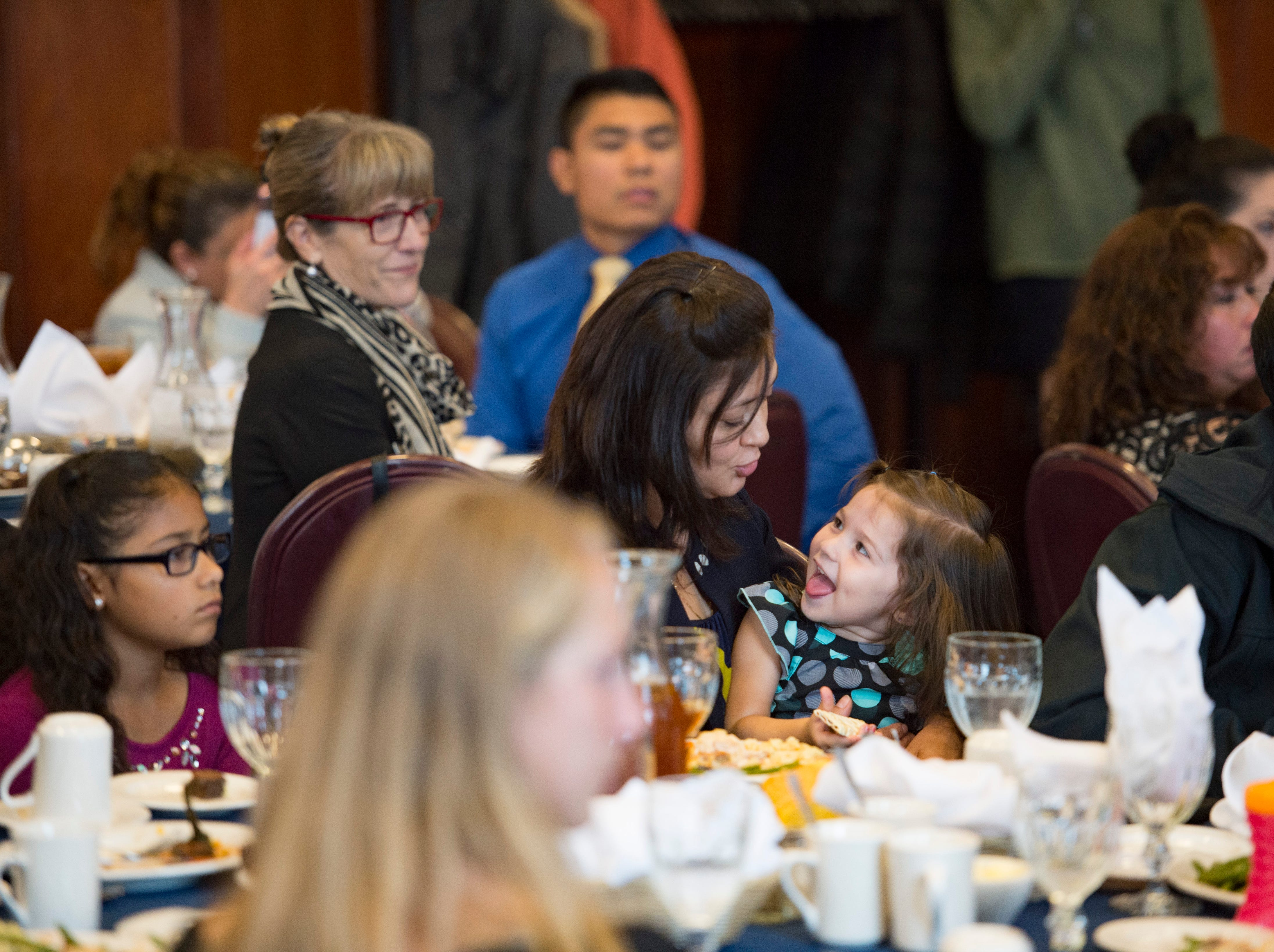 Friends, family and partners support students during the Coloradoan's First Class banquet at the University of Northern Colorado in Greeley on Saturday, October 6, 2018. First Class is a program that supports first-generation students in Northern Colorado. The program is now in its third year and is a partnership between The Coloradoan and Aims Community College, Fort Collins Lions Club, Front Range Community College, Colorado State University, Canvas Credit Union (formerly Public Service Credit Union) and University of Northern Colorado.