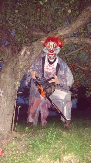 Visitors to the Trail of Terror south of Oconto this month will almost certainly encounter even scarier entitites than this deranged clown with a chainsaw. The trail is open 7 to 11 p.m., weather permitting on Oct. 12-13, 19-20, and 26.