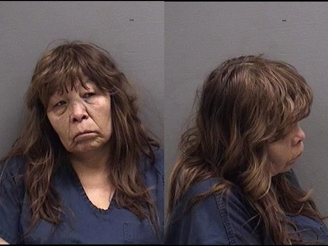 "MAKESCOLDWEATHER, WENDY BETH: 55 yoa, Native American female, 5'4"", 130 pounds, brown hair, brown eyes. Wanted on:  Violation of Bail Condition on DUI,4th or subsequent offense,felony, Driving while Suspended/Revoked, No Insurance, Possession of Open Alcoholic Beverage in Motor Vehicle, misdemeanor, total bond $7,500"