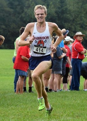 Caleb Beimfohr helped Harrison win a sectional championship two weeks ago.