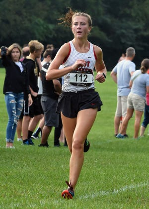 Ellie Tate's 12th-place run led West Lafayette girls cross country to a third place finish at state.