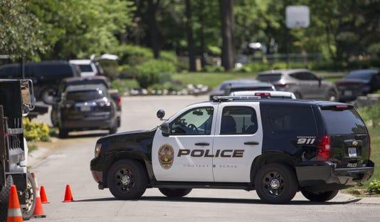 A police cruiser