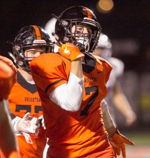 Linebacker Jack Krause is a leader on a Brighton defense that faces an explosive East Kentwood offense Saturday.