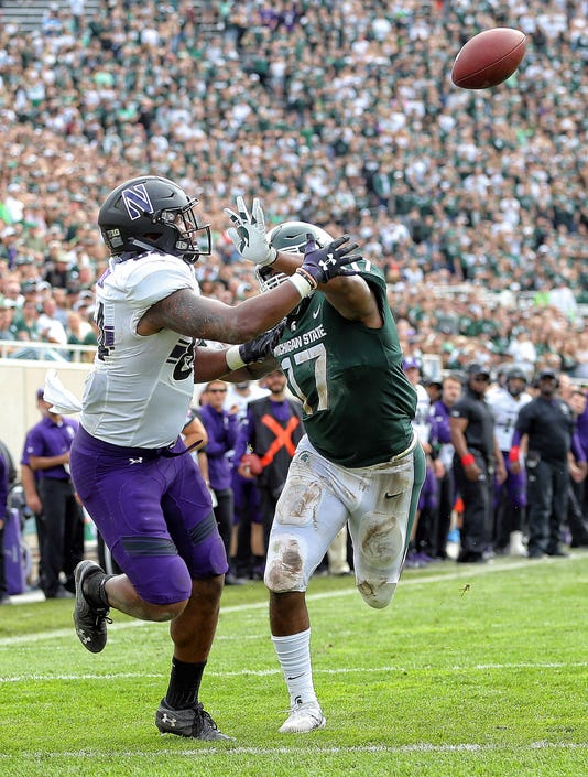 Ncaa Football Northwestern At Michigan State