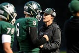 Williamston football coach Steve Kersten reflects on his team's league title-clinching win over Mason on Oct. 5, 2018.