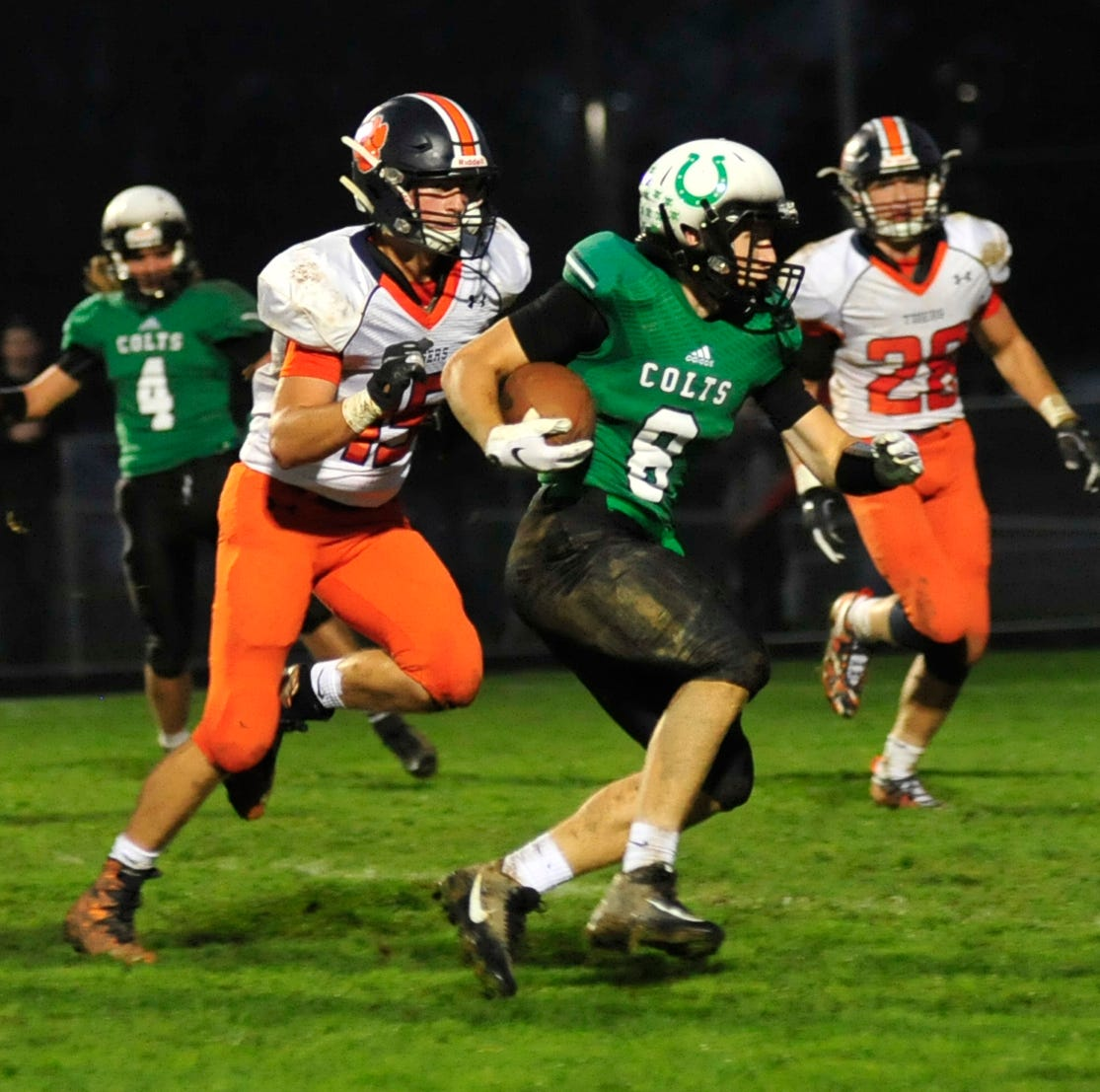 Clear Fork's Jared Schaefer runs with the ball while playing against Galion on Friday night.