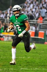 Clear Fork's Trevon Trammell runs with the ball while playing at home against Galion on Friday night.