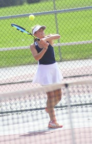 Galion's Kayley Gimbel took a big step toward a return trip to the state tennis tournament by winning a Division II sectional singles title Saturday.