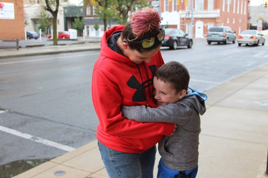 Crystal Bonsel, of Marion, regained custody of her son, Mason Thacker, after overcoming drug addiction.