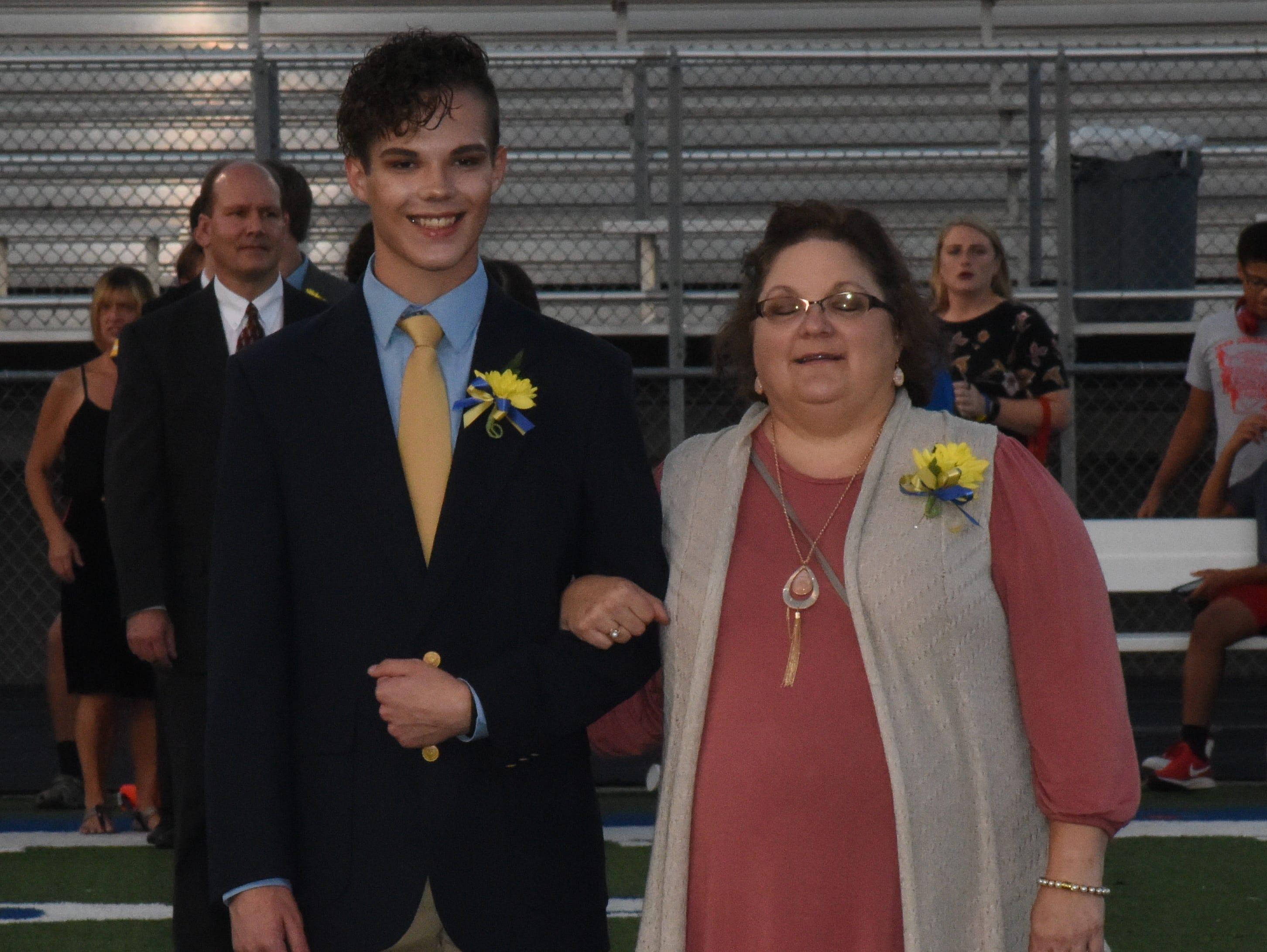 Junior knight Jesse Light and his mother, Pamela Light.