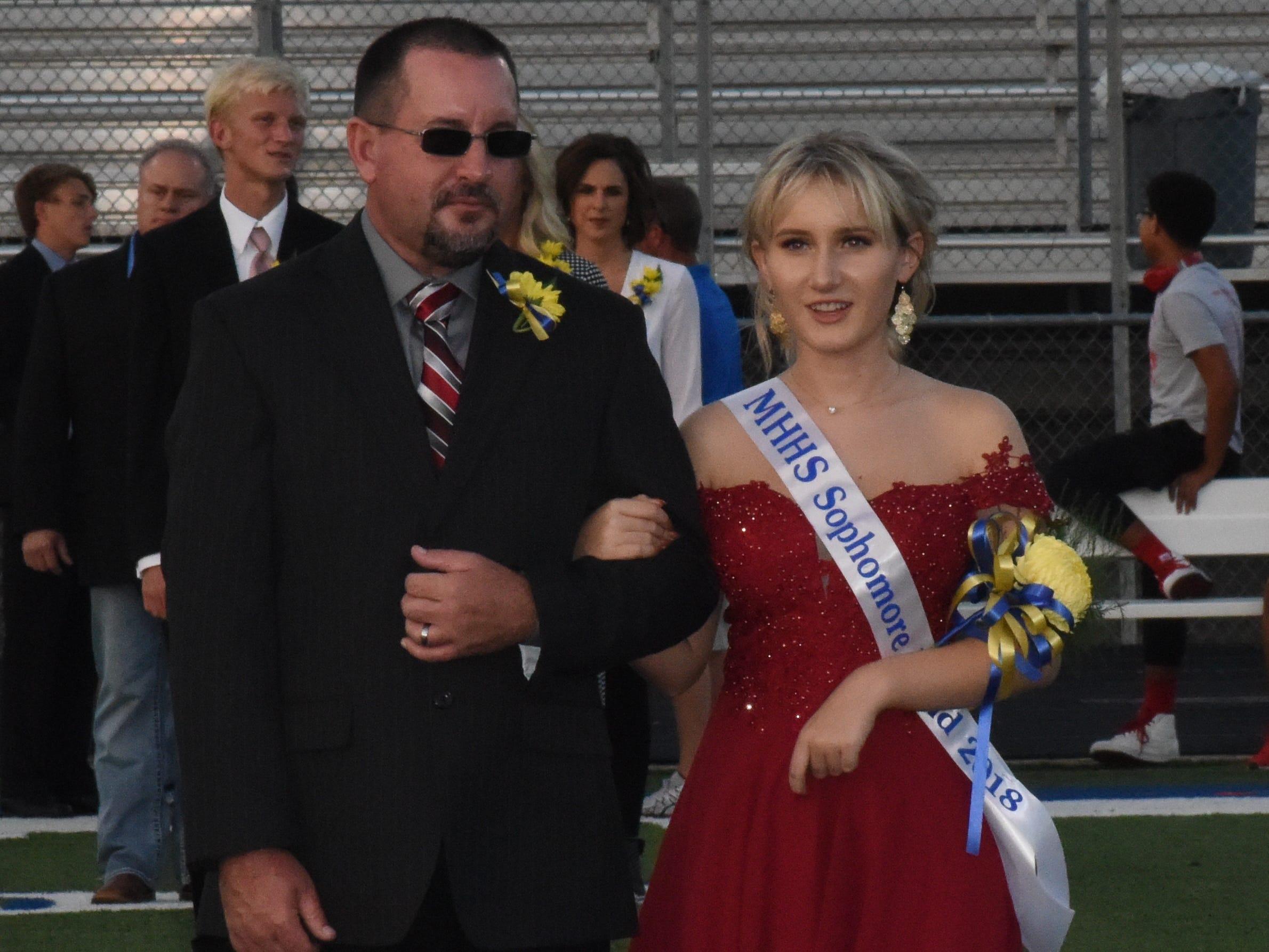 Sophomore maid Delaney McManigell and her father, Rhett McManigell.