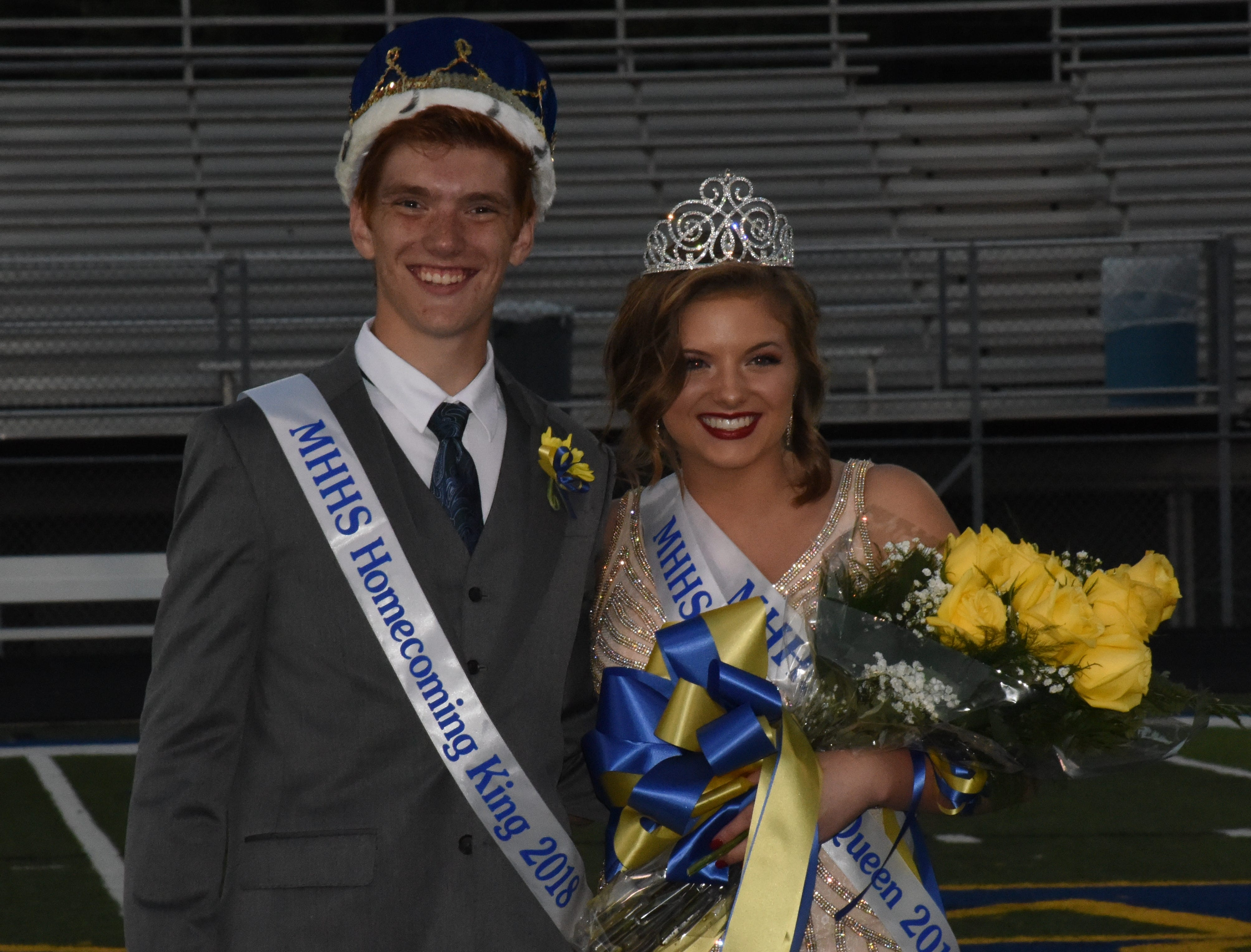The Mountain Home Homecoming king and queen are Reese Villiger and Anna Cullipher.