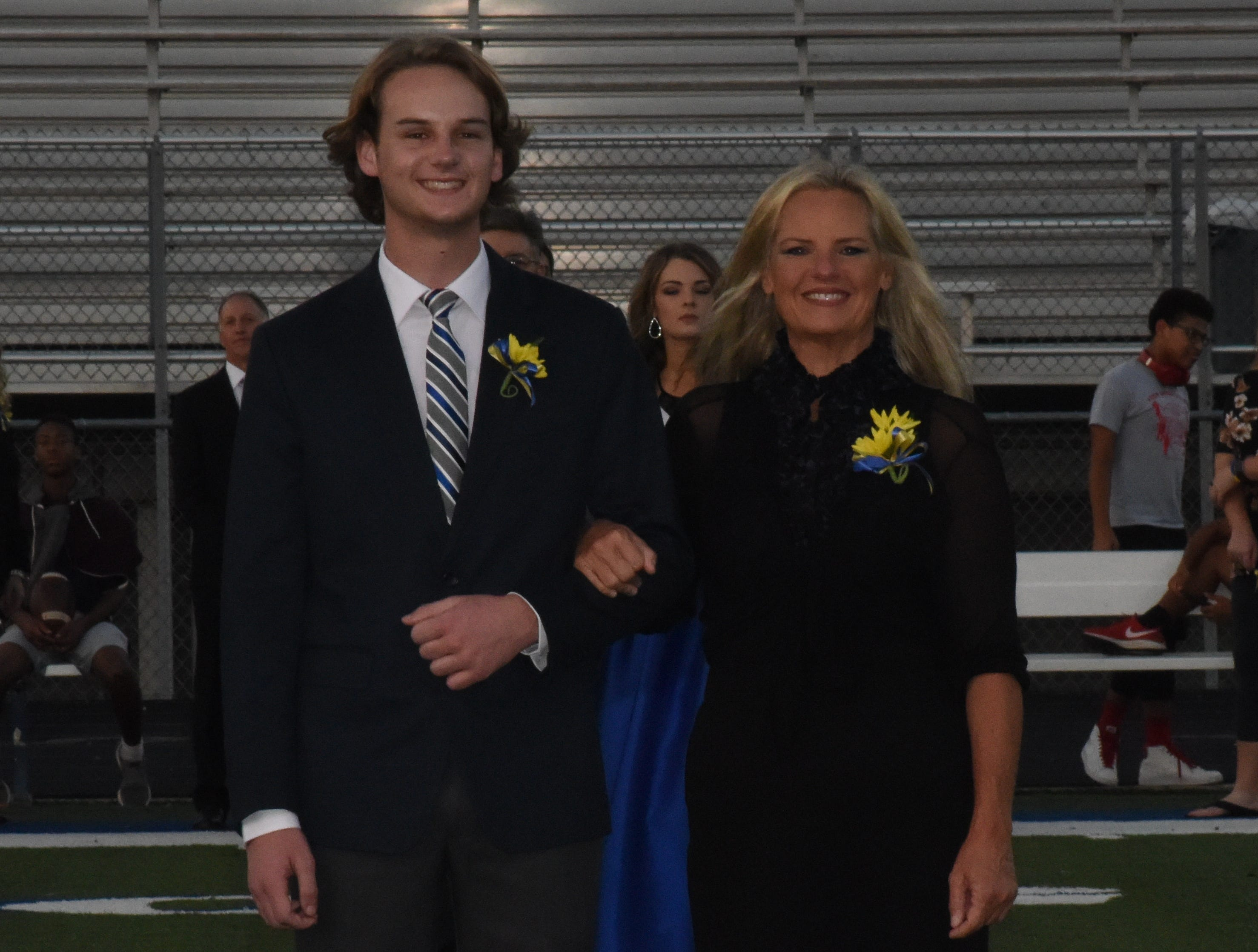 Senior knight Conner Oxford and his mother, Penny Oxford.