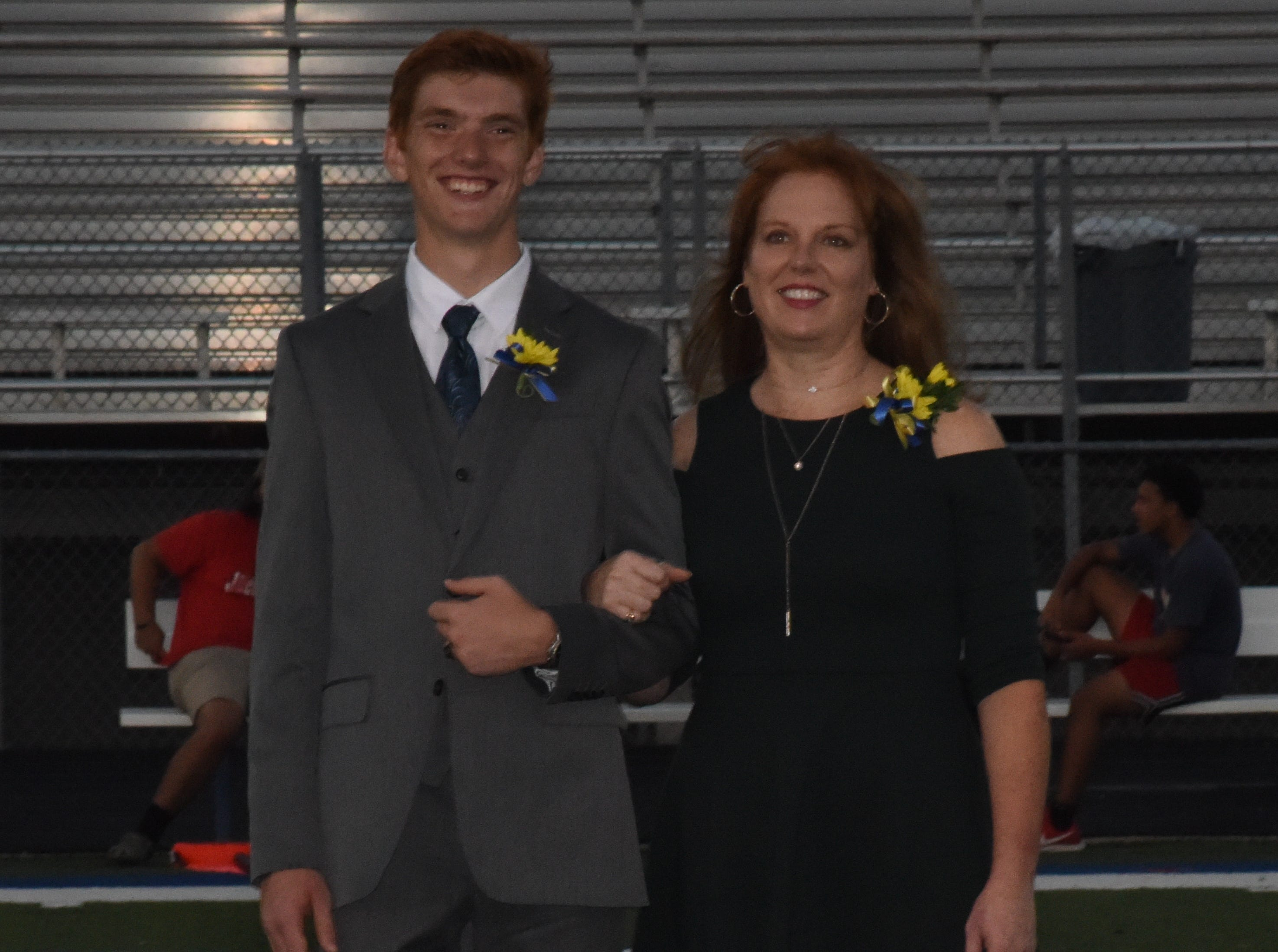 Senior knight Reese Villiger and his mother, Michel Villiger.