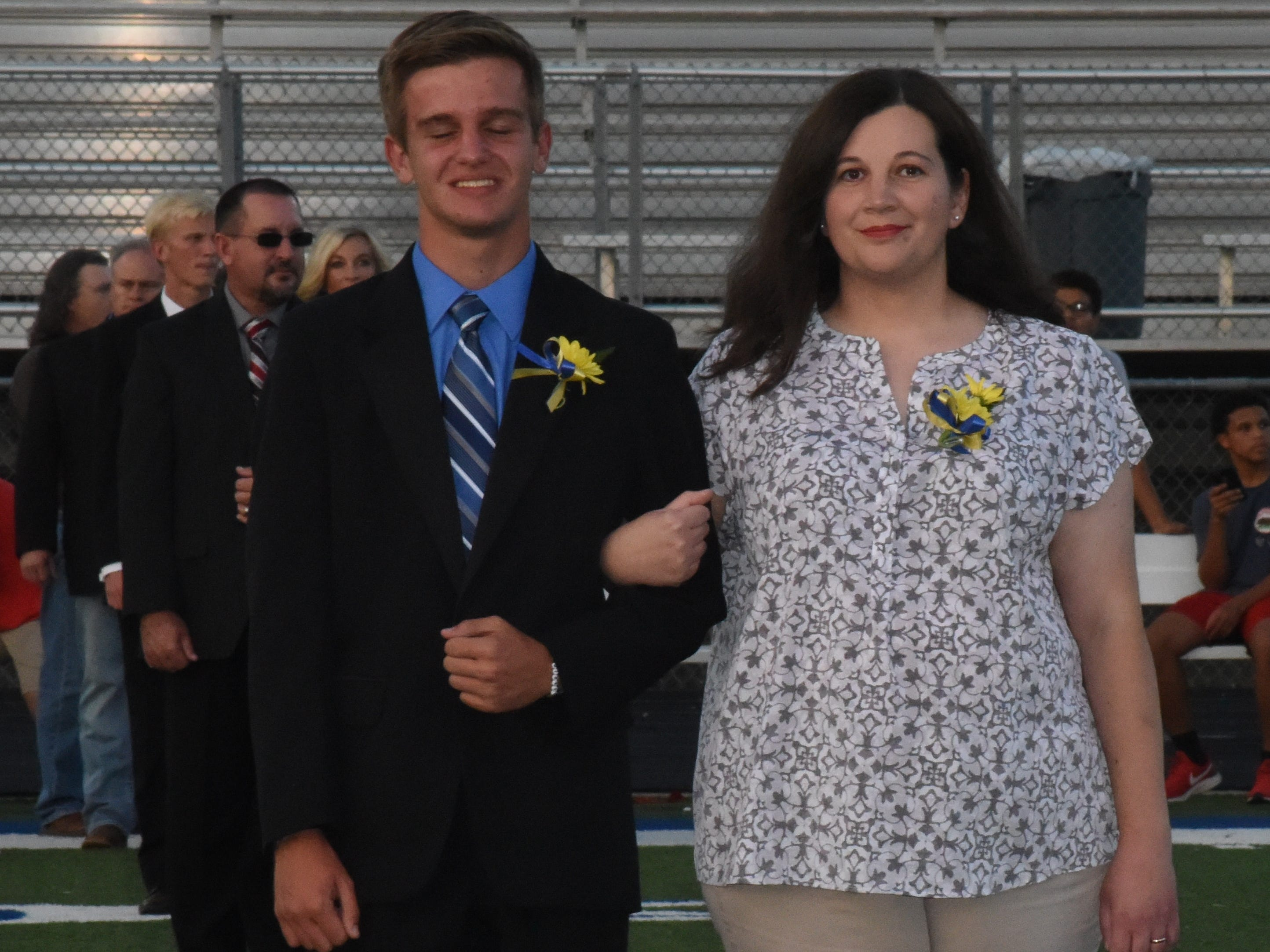 Freshman knight Tyler Firment and his mother, Sara Firment.