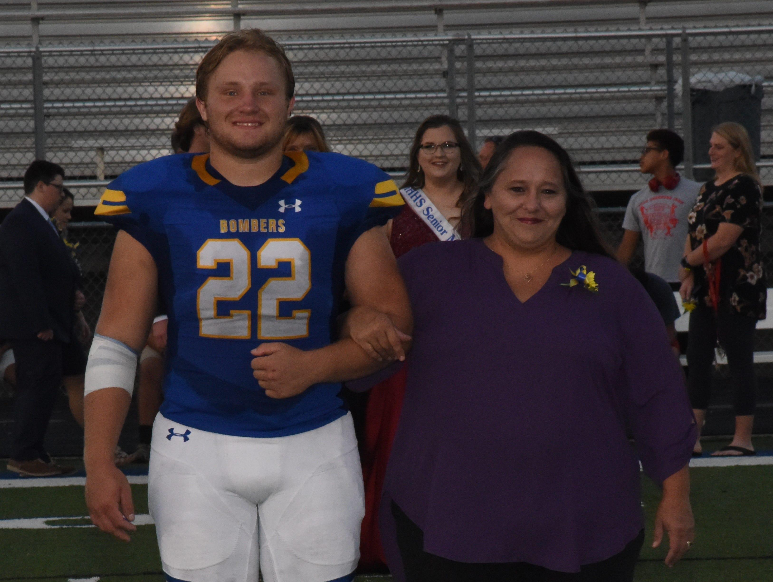 Senior knight Lathan Aldridge and his mother, Corenna Aldridge.