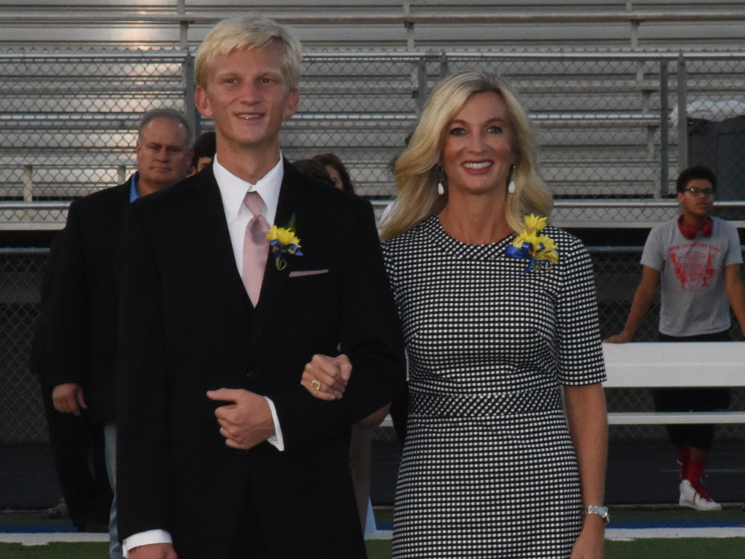 Sophomore knight Whit Lawrence and his mother, Judy Lawrence.