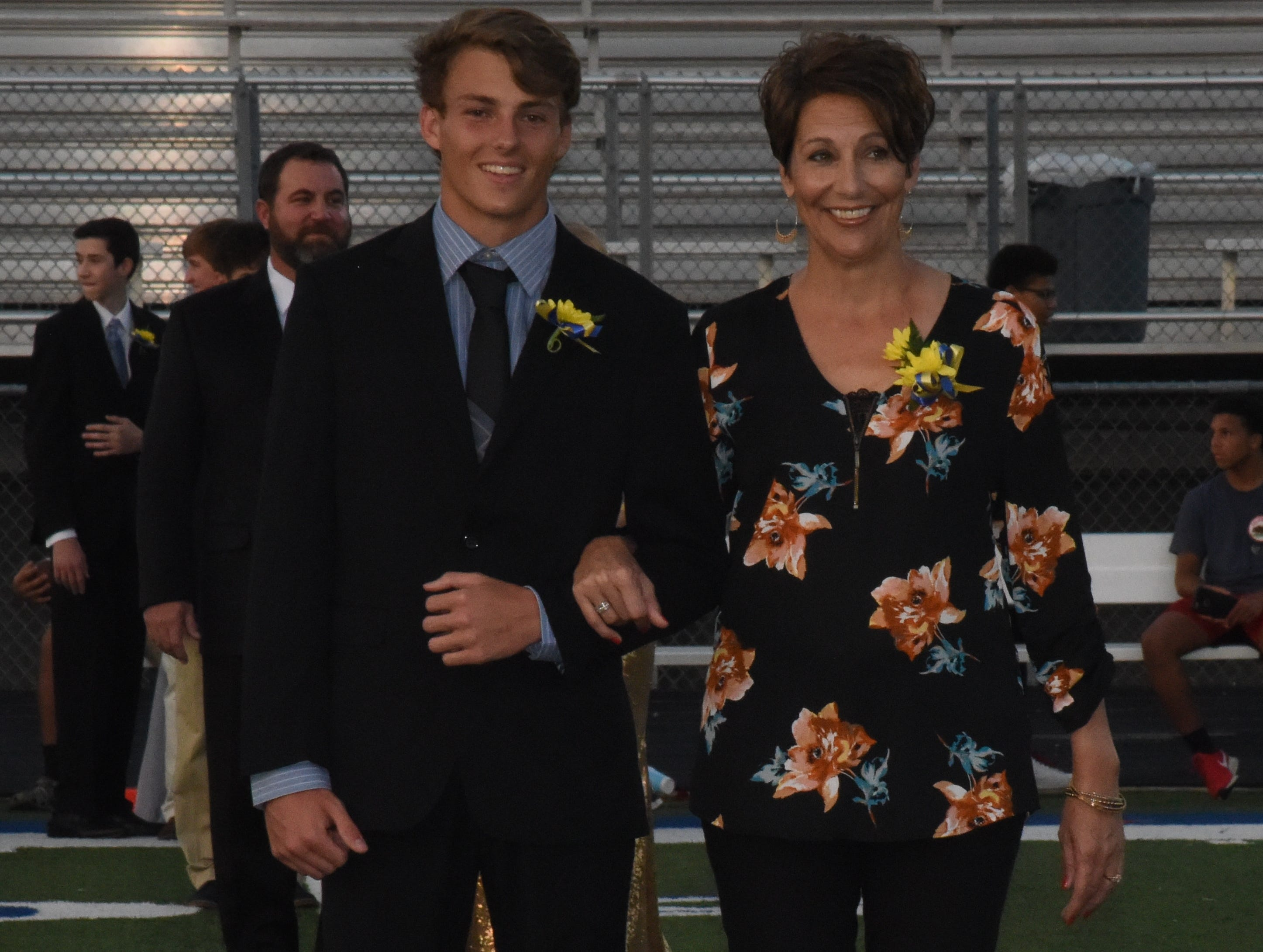 Junior knight Sam Arp and his mother, Kathy Arp.