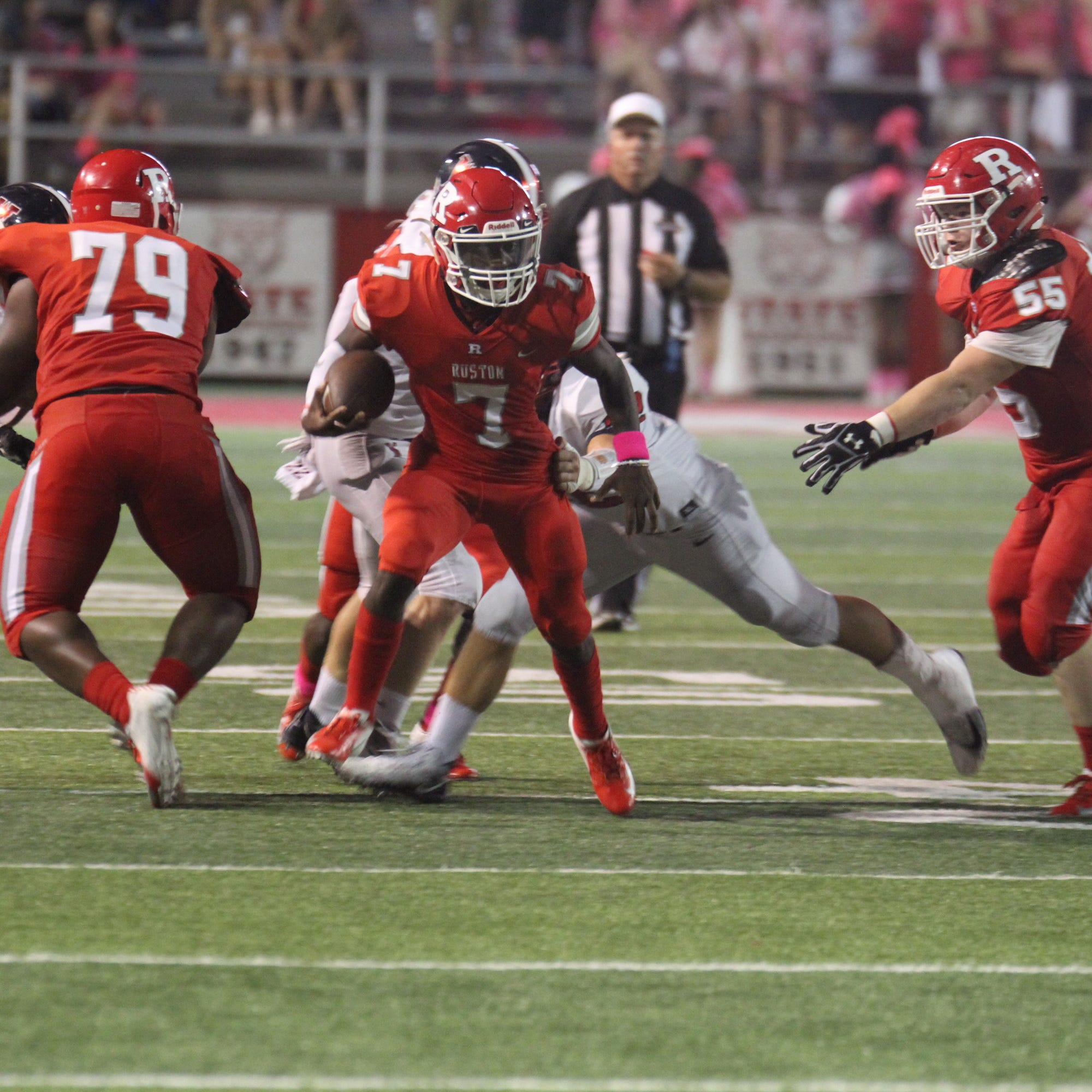 The West Monroe Rebels traveled to take on the Bearcats in Ruston, La. on Oct. 5. The Rebels took a decisive win 45-21