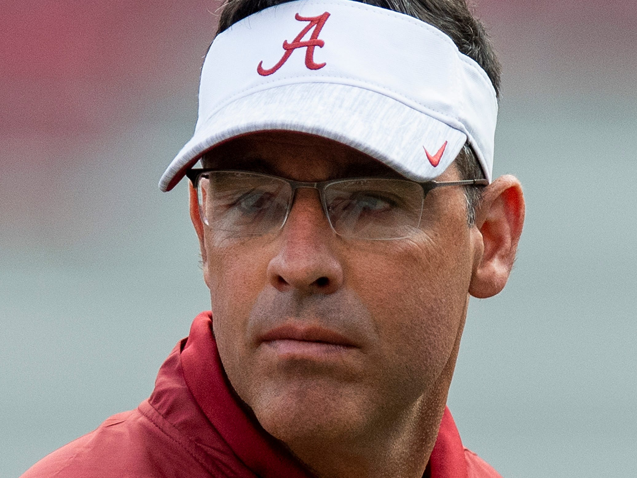 Alabama quarterbacks coach Dan Enos before the Alabama vs. Arkansas game in Fayetteville, Ark., on Saturday October 6, 2018.