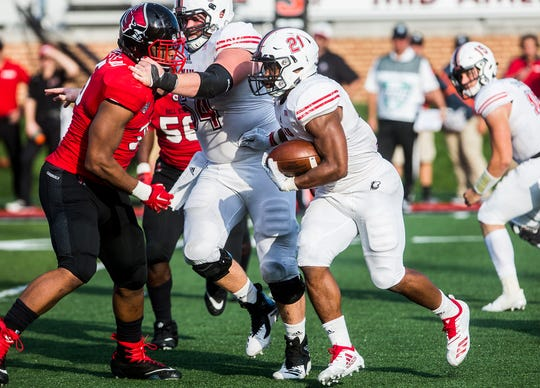Ball State faces off against Northern Illinois during their game at Scheumann Stadium Saturday, Oct. 6, 2018.