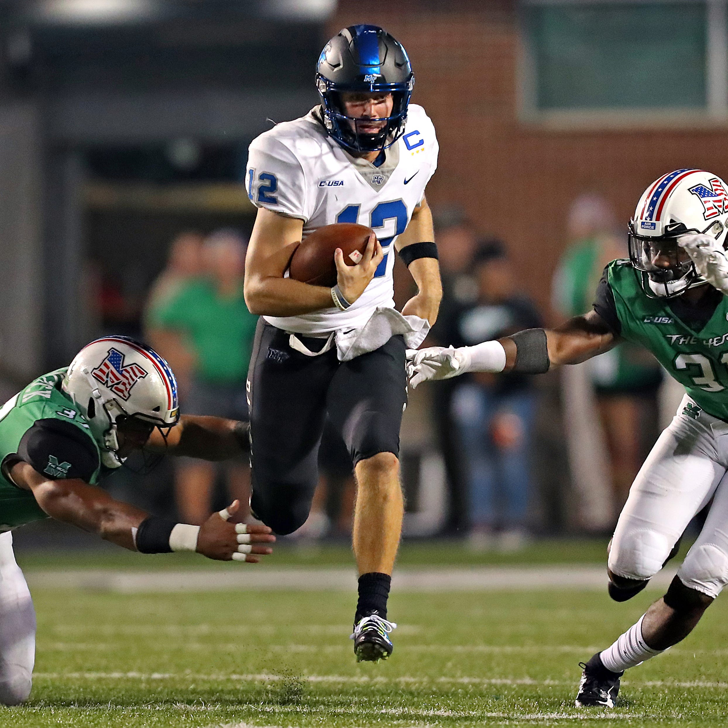MTSU quarterback Brent Stockstill exits game against Florida International in second quarter