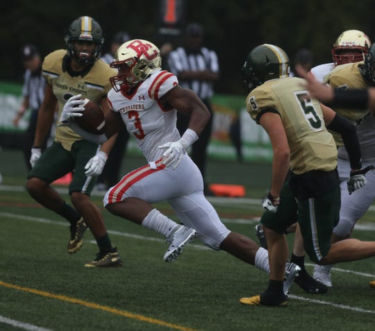 Anthony Corbin of Bergen Catholic scored the winning TD in the fourth quarter of a 24-20 win at St. Joseph.