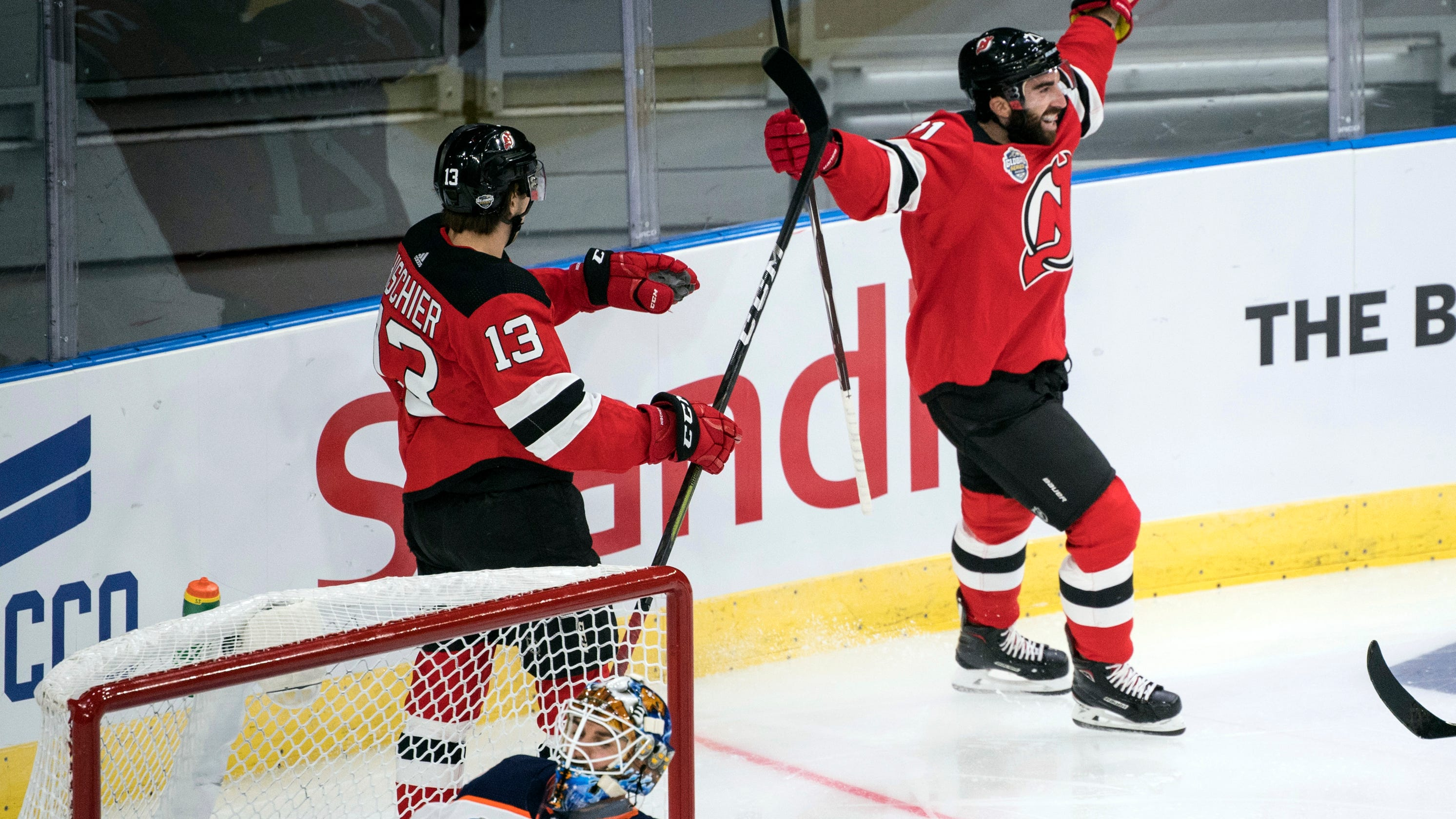 check out 621d8 2dced NJ Devils earn first win of season at home in Sweden