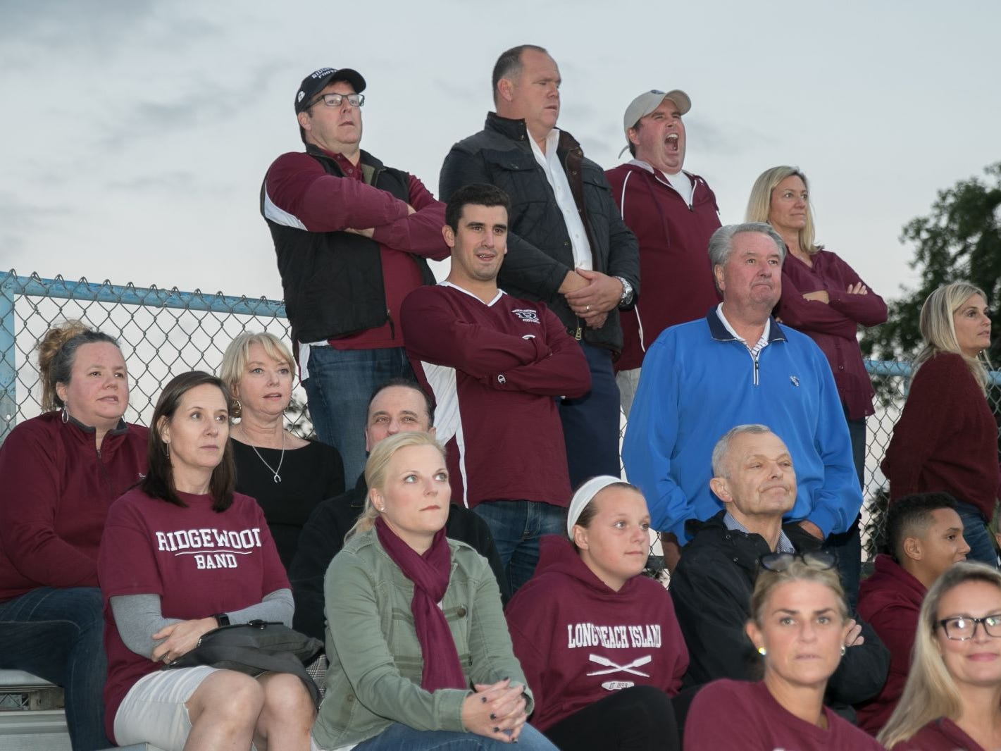 The crowd at the Ridgewood High School versus Paramus High School rivarly football game. Paramus won staying undefeated with an overtime win. 10/05/2018