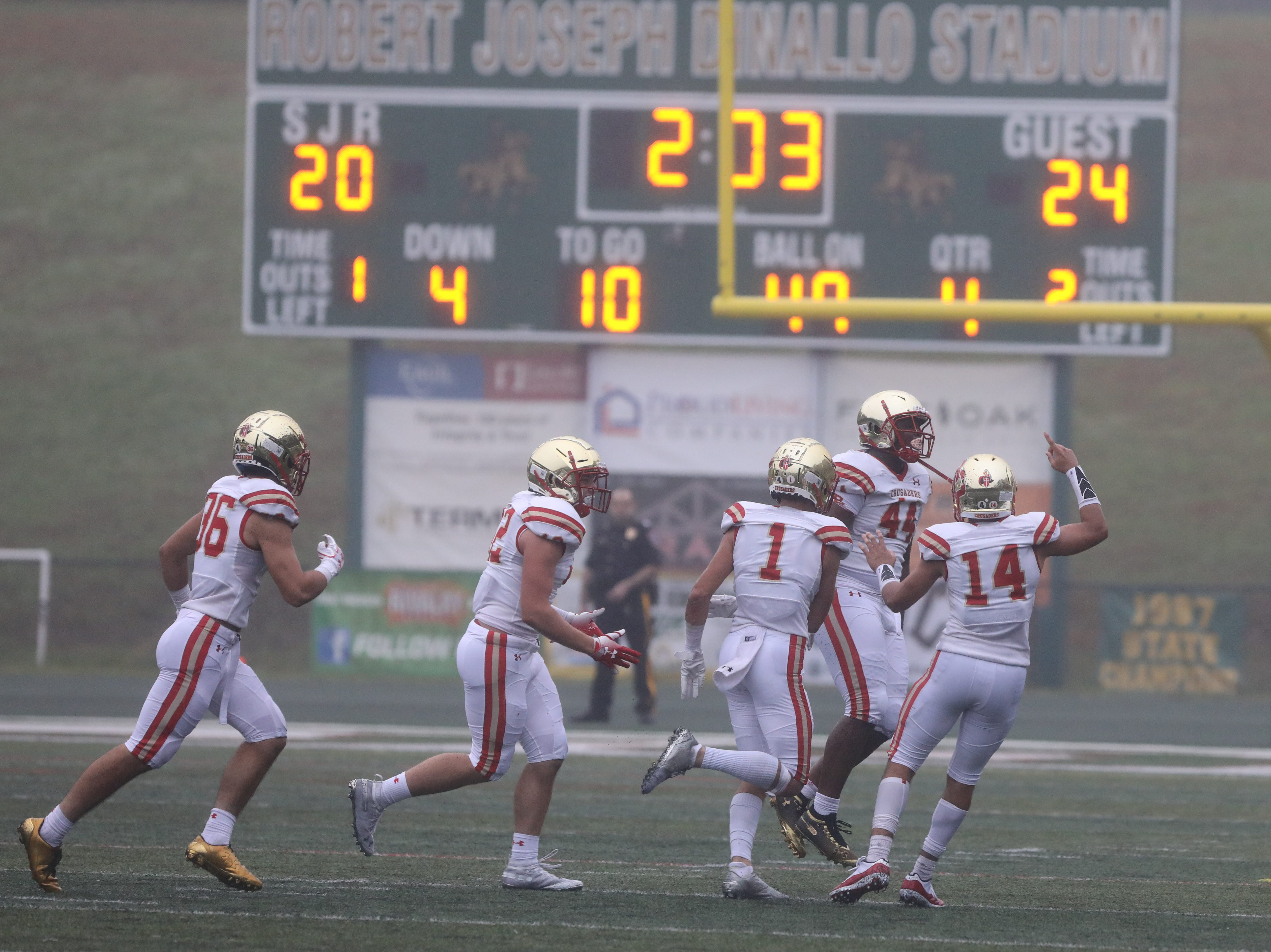 The Bergen Catholic defense stopped St. Joseph on forth down to ice the game with two minutes left.