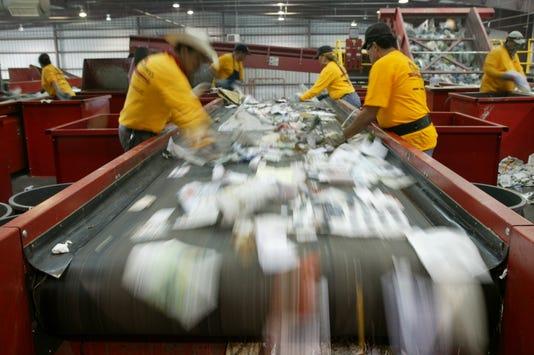 Photo 2 Friedman Mrf Workers At Conveyor Belt