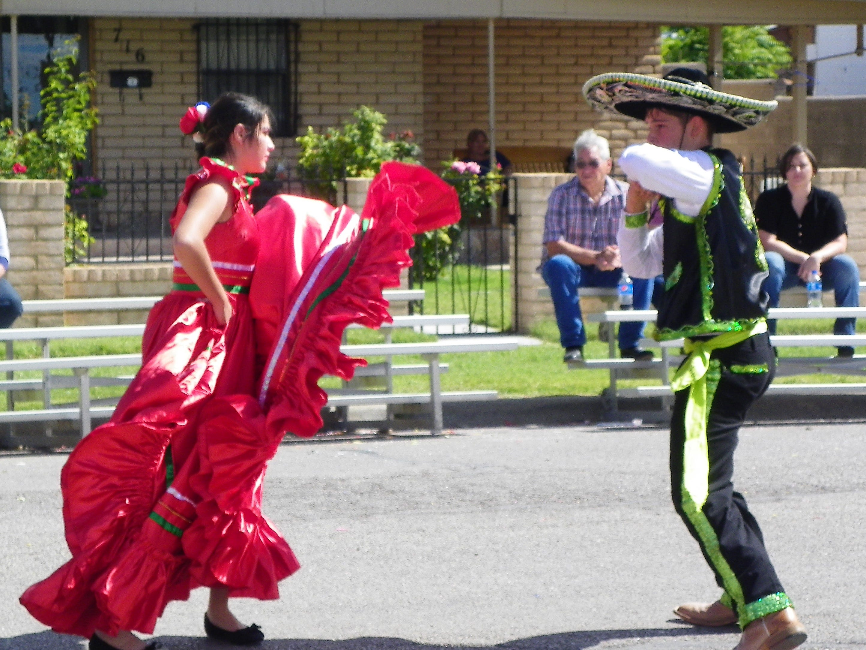 Dancers from Hondo Ballet Folkloric perform at Immaculate Conception Catholic Church's Fiesta de la Familia Saturday.