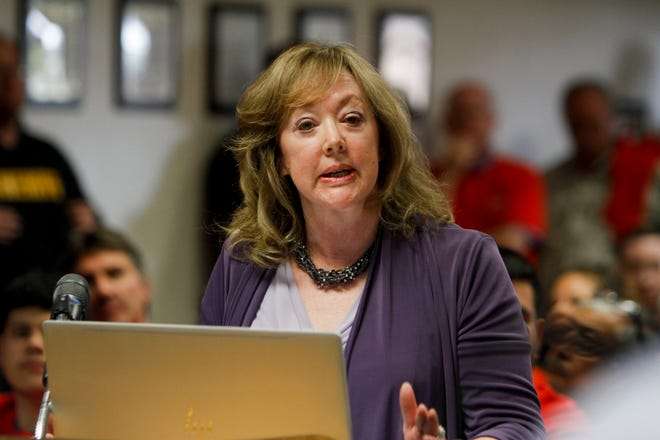 """Carla Sonntag, president of New Mexico Business Coalition, will deliver a presentation on """"right to work"""" Tuesday for the Farmington City Council."""