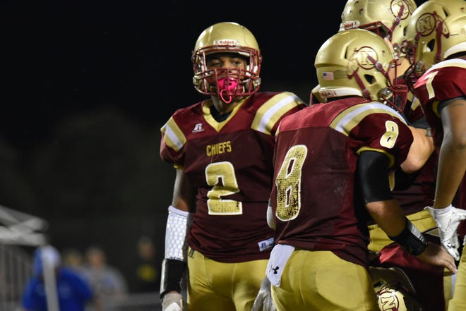 Northview running back Jayden Jackson (2),  who has missed nearly half the season, showed his skills with 150-plus yards and pair of TDS in Chiefs' rivalry win against Jay.