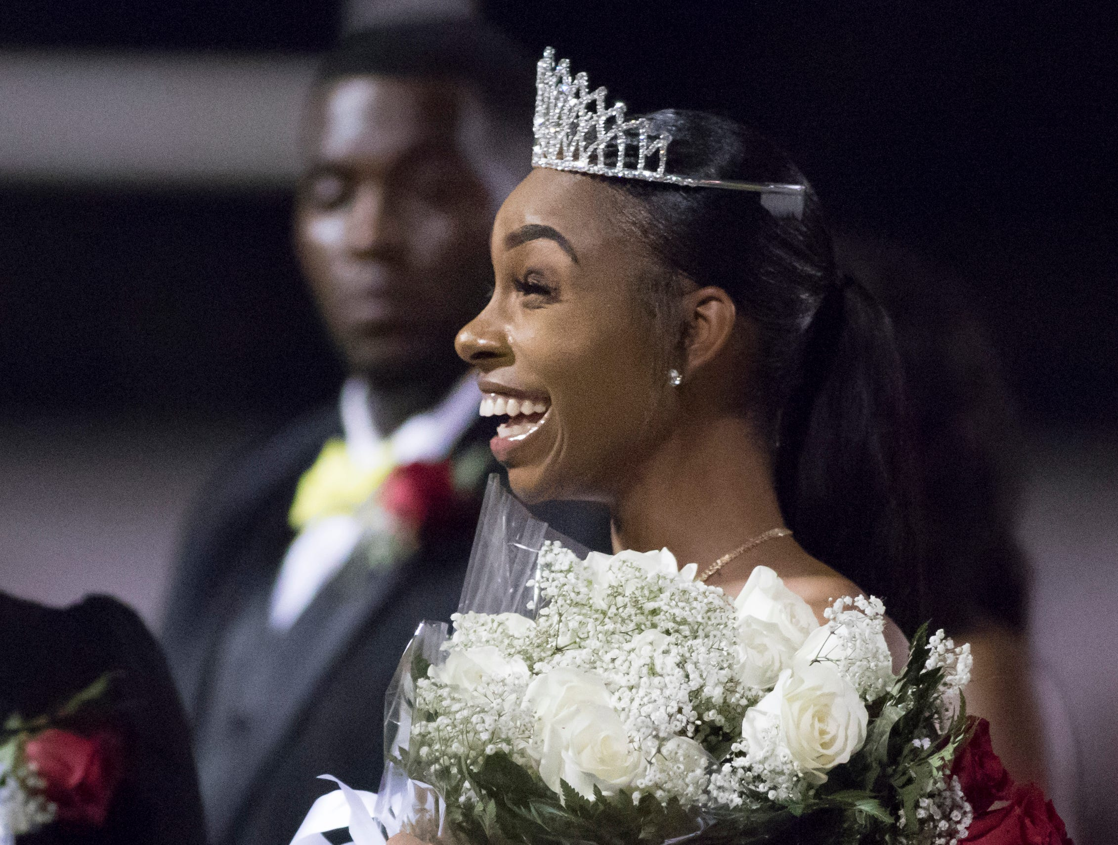 The homecoming queen is crowned at halftime of the West Florida vs Pine Forest football game at Pine Forest High School in Pensacola on Friday, October 5, 2018.