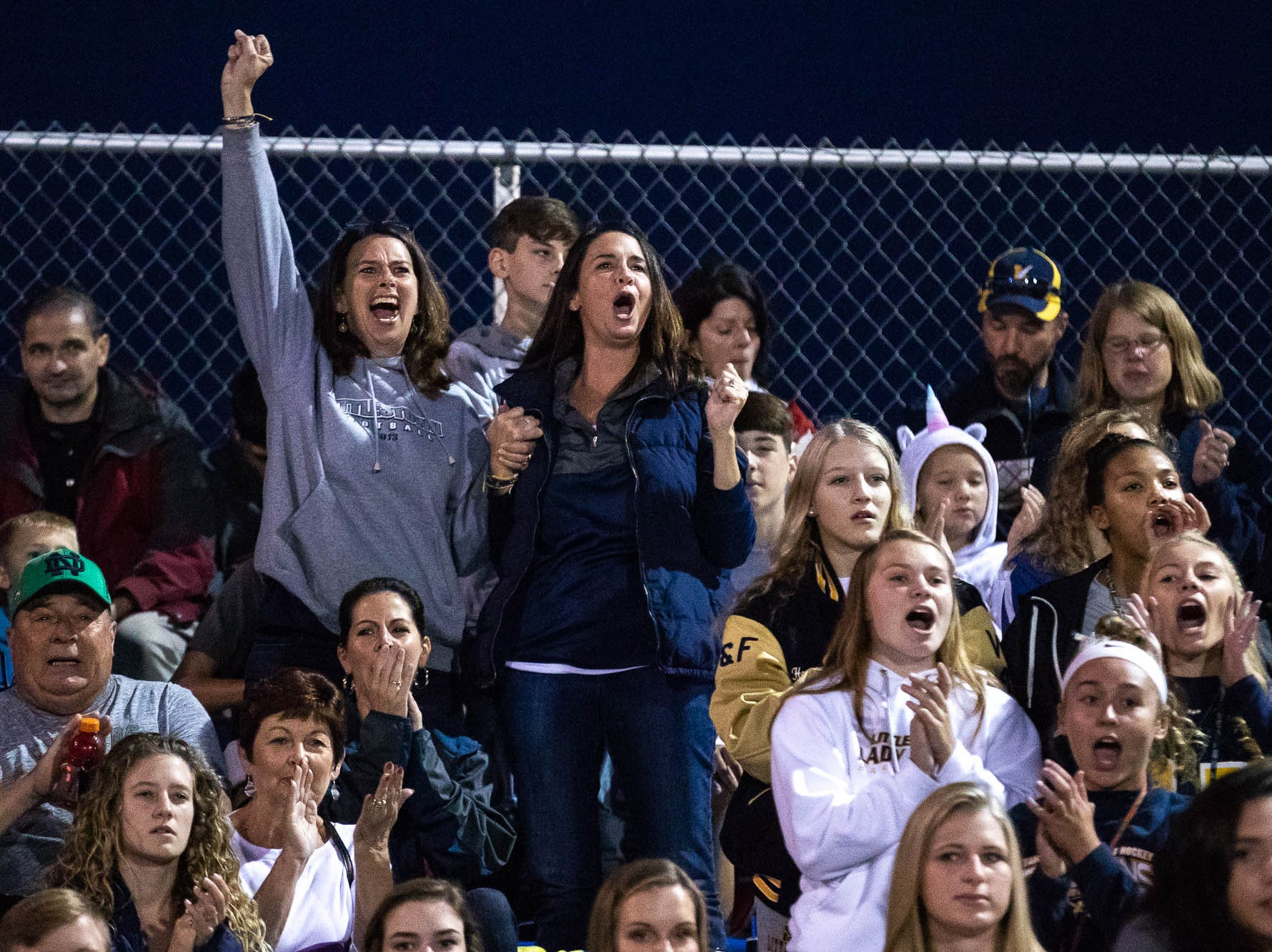 Littlestown fans cheer during a football game between Hanover and Littlestown, Friday, Oct. 5, 2018, at the Sheppard-Meyers field in Hanover.