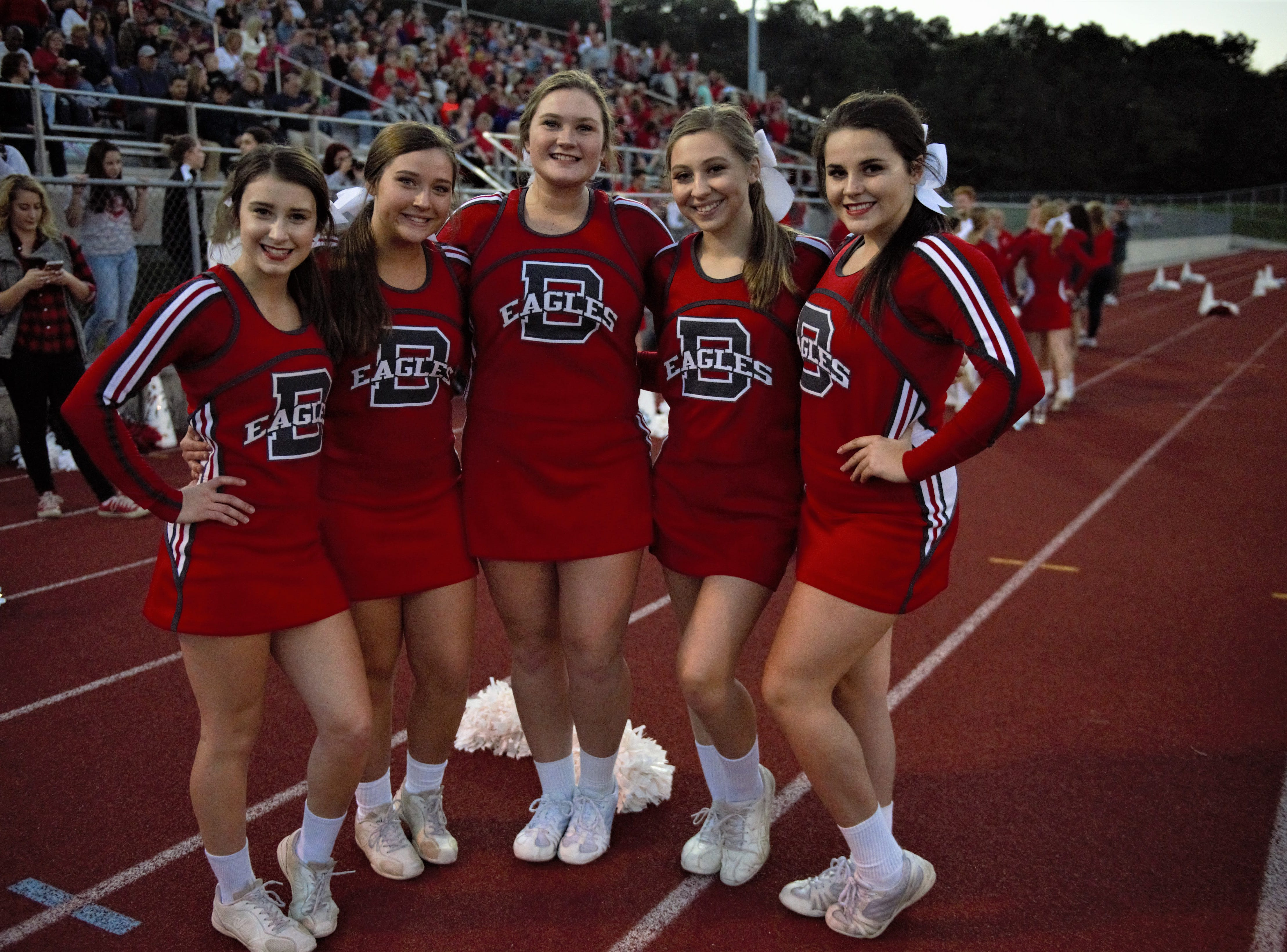 Bermudian Springs cheerleaders at the home game against Delone Catholic on Oct. 5.