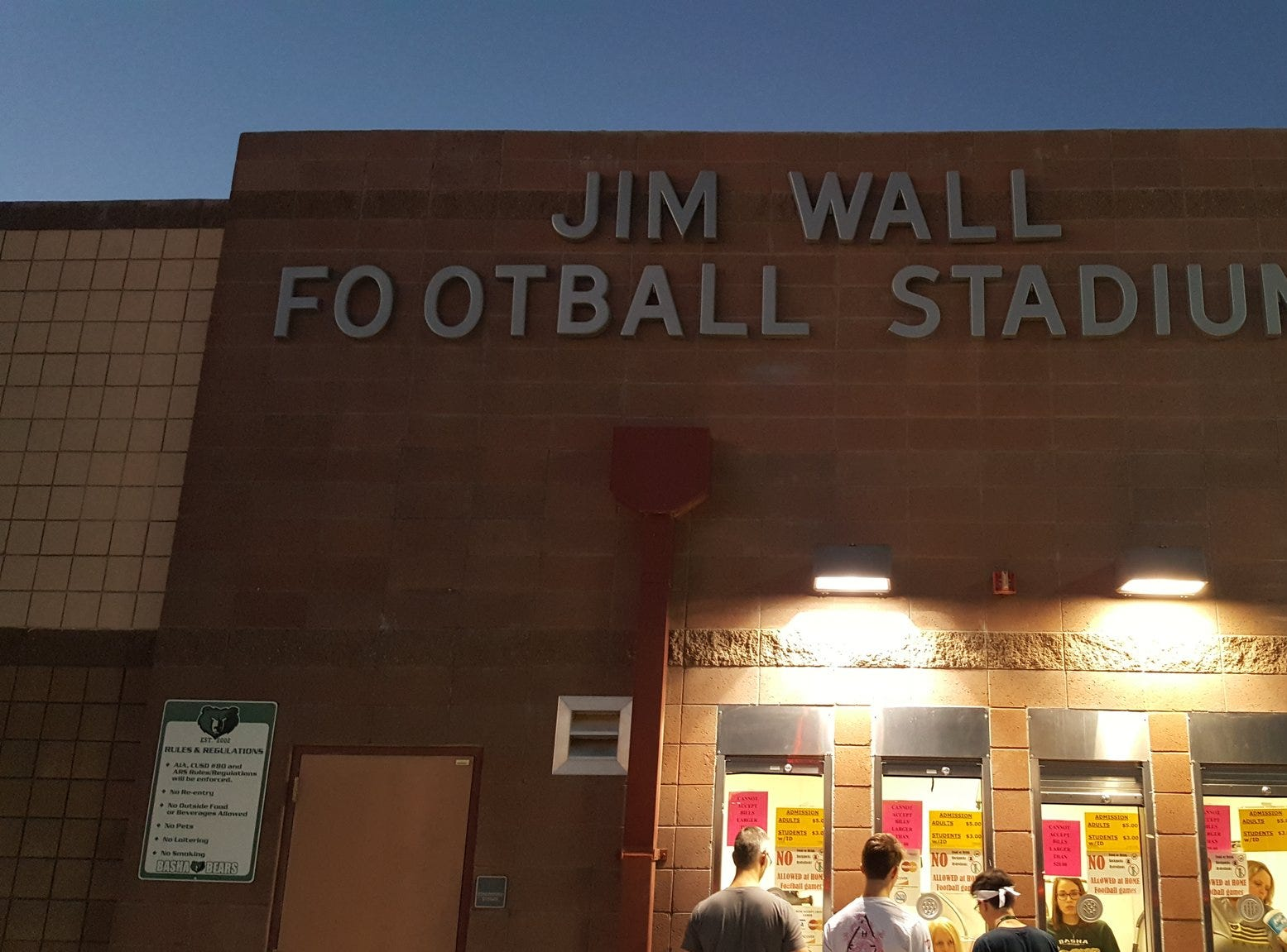 Chandler Basha's Jim Wall Football Stadium as the Bears host the Chandler Hamilton Huskies on Friday, Oct. 5, 2018.
