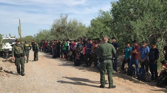 Crisis: Large groups of immigrants measuring in the hundreds are being smuggled over the border.