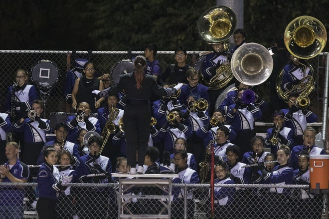 Washington's pep band plays during their game in Glendale Friday, Oct. 5, 2018. #azhsfb