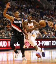 Josh Jackson drives against Portland during last week's preseason game.