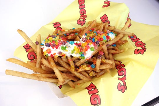 Caramel crack fries from Biggy's at the 2018 Arizona State Fair.