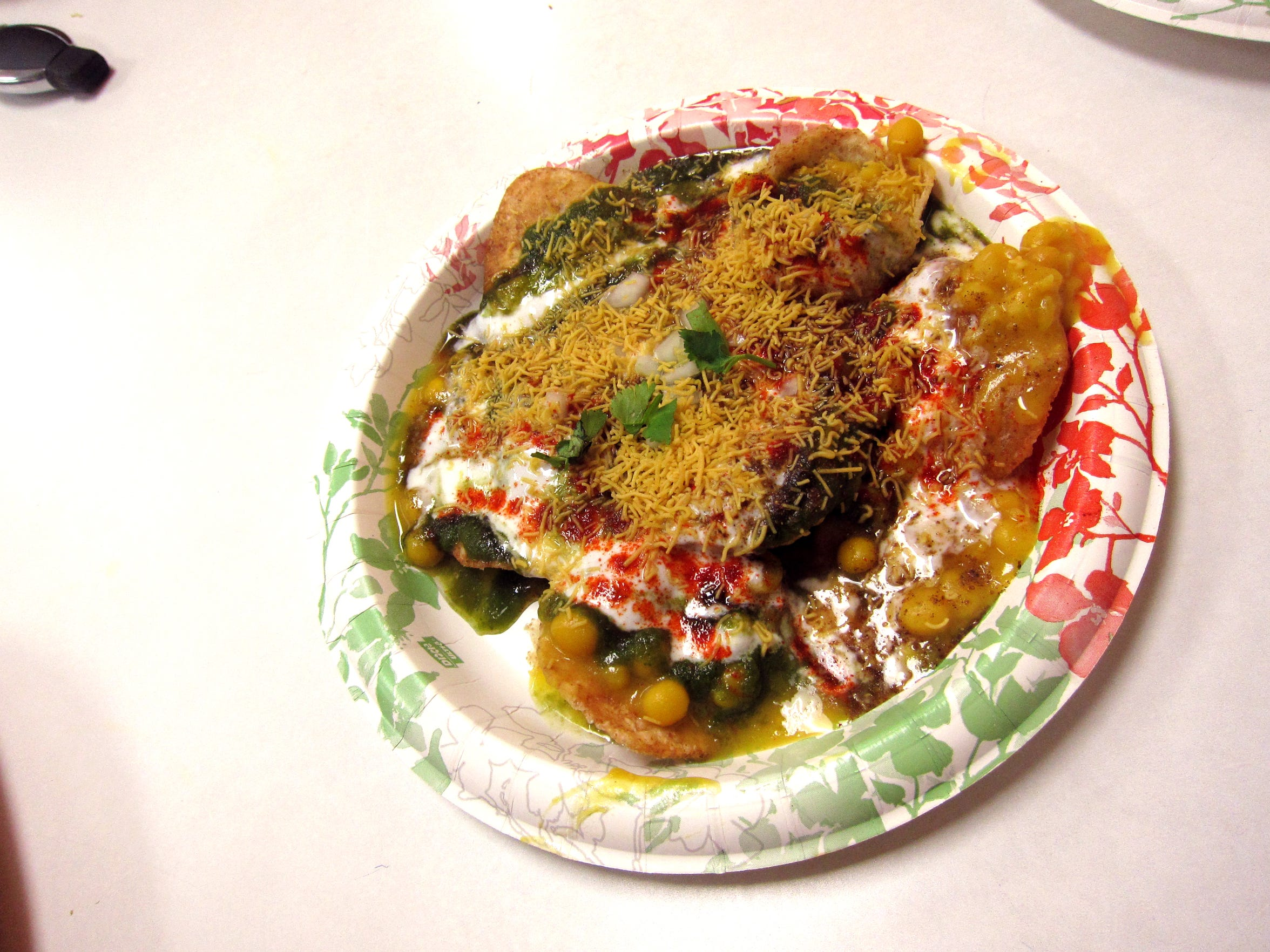 Papri chaat from Little India in Tempe.