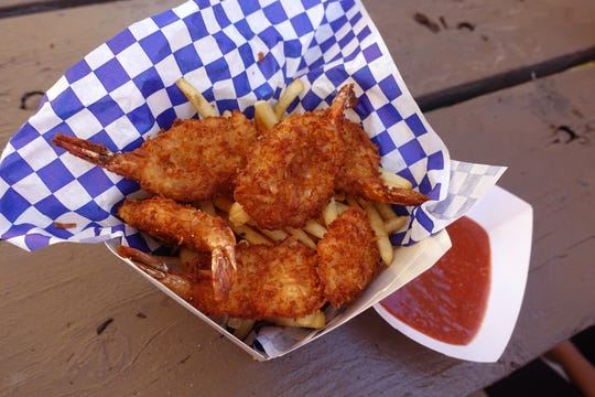 Coconut shrimp from Baja Lobster at the 2018 Arizona State Fair.